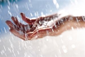 rain in the hand