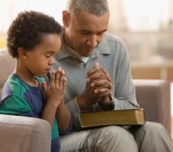 praying with son