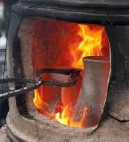 a1 pottery in kiln